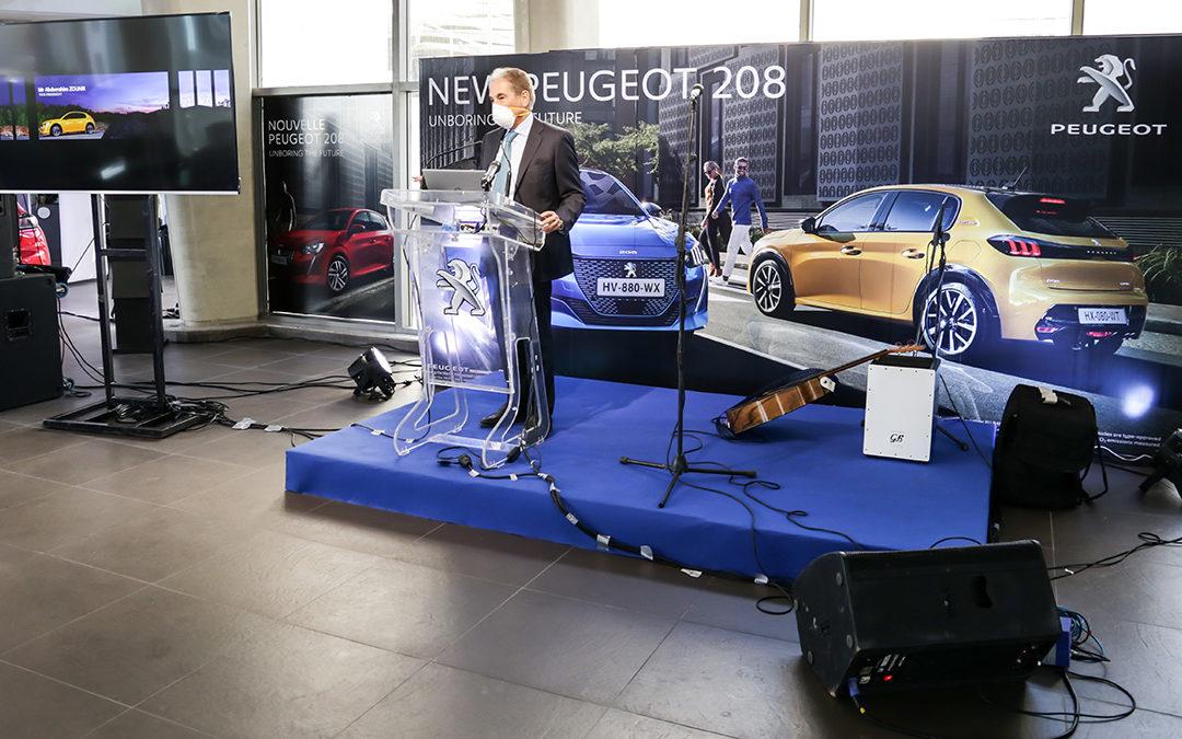 Lancement de la NouvellePeugeot 208  «F U T U R I S T I C & Y O U N G» par la STAFIM Peugeot