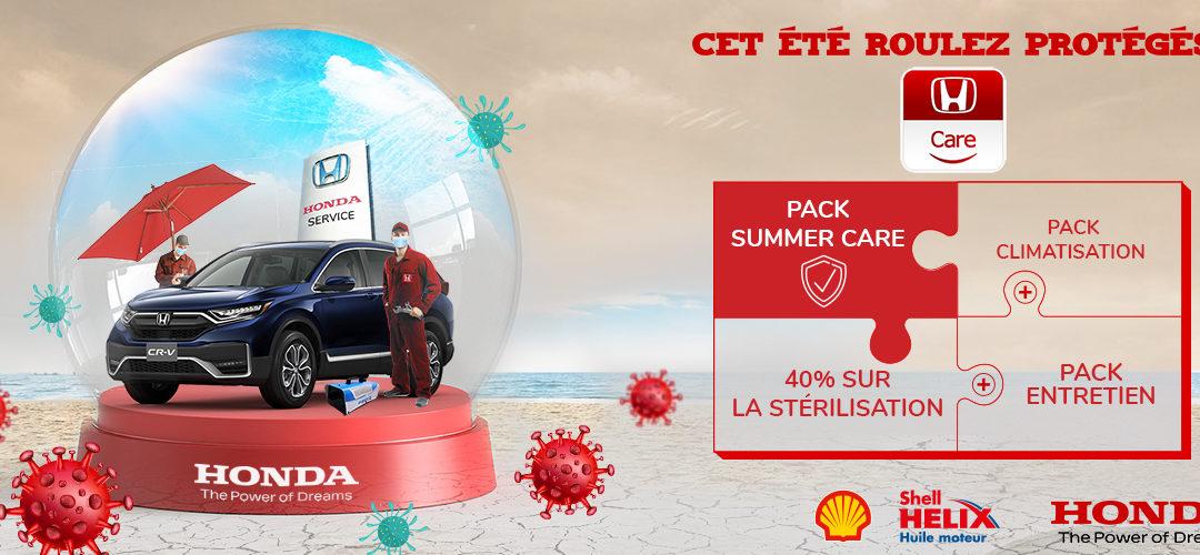 HONDA TUNISIE ET SON OFFRE DE PROMOTION «HONDA SUMMER CARE»
